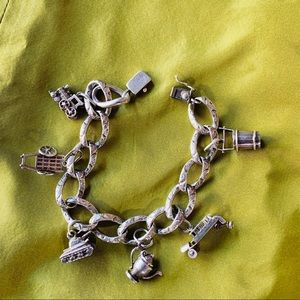 Antique Sterling Charm Bracelet